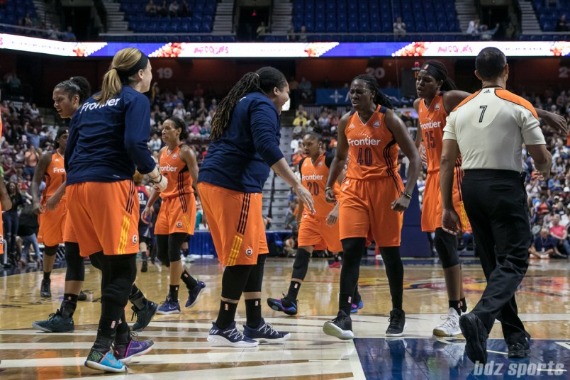 Players on the Connecticut Sun are fired up after crawling back from a 22-point deficit.