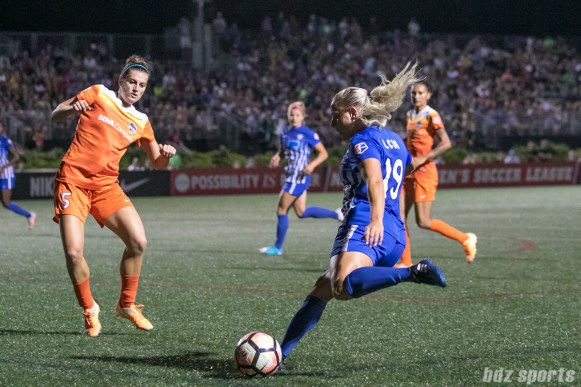 Boston Breakers forward Adriana Leon (19) looks to send in a cross