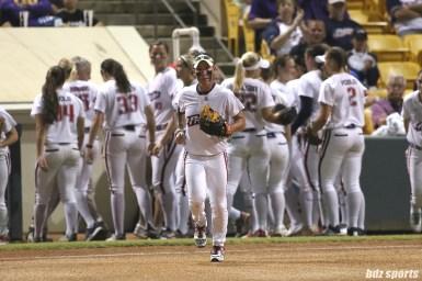 USSSA Pride outfielder Kelly Kretschman (12) takes to the field