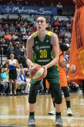 Seattle Storm forward Breanna Stewart (30) takes a free throw.