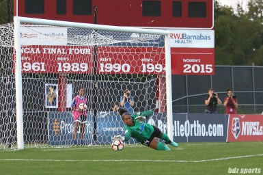 Boston Breakers goalkeeper Abby Smith (14) making a save