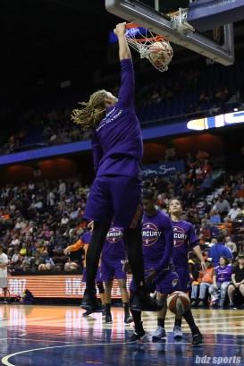 Phoenix Mercury center Brittney Griner (42) throws down a dunk during warmups