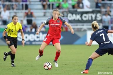 Portland Thorns FC defender Emily Sonnett (16)
