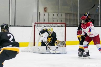 Boston Pride goalie Brittany Ott (29) makes a save