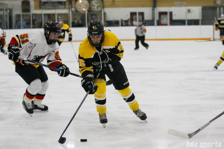 Boston Blades forward Megan Myers (15)