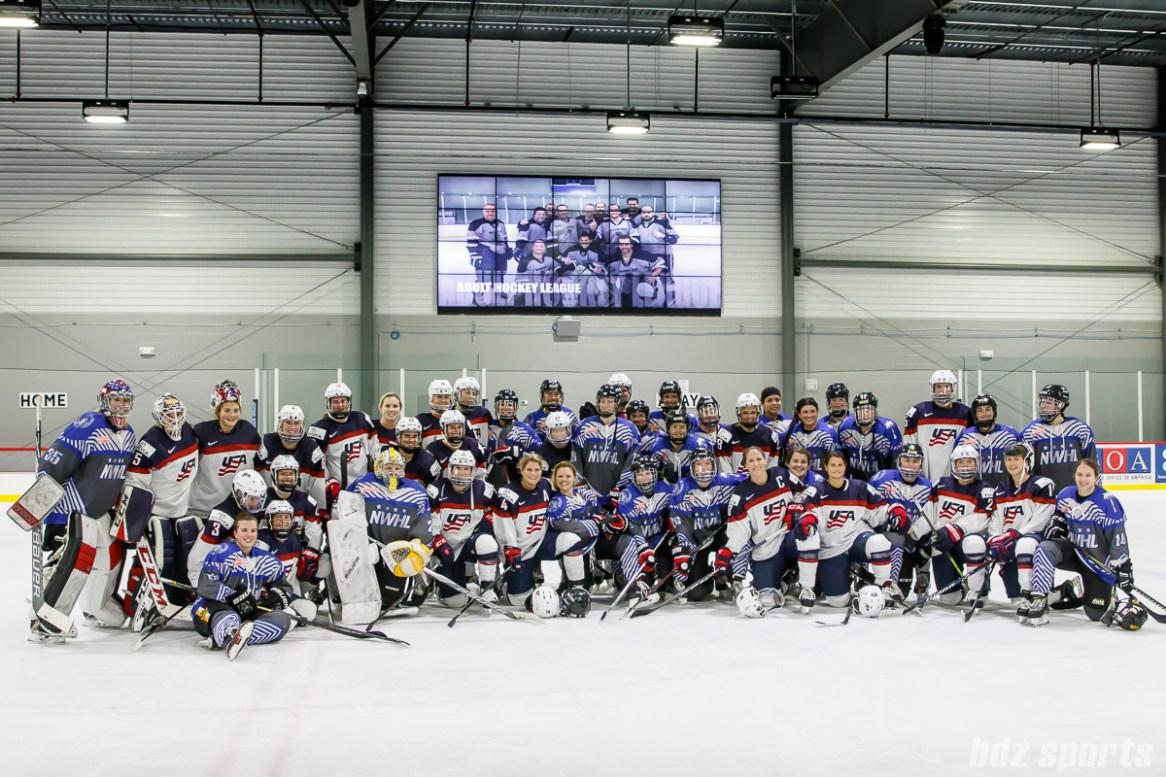 Team USA and Team NWHL