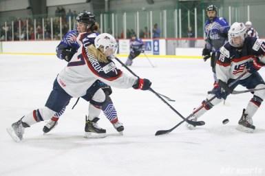 Team USA defender Monique Lamoureux-Morando (7) takes a shot on goal