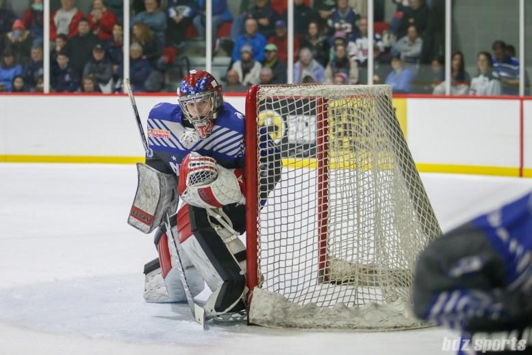 Team NWHL goalie Katie Fitzgerald (35)