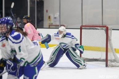 Connecticut Whale goalie Sydney Rossman (34)