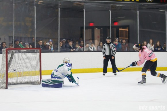 Boston Pride forward Jordan Smelker (11) finds the back of the net during the shootout between the Pride and the Connecticut Whale
