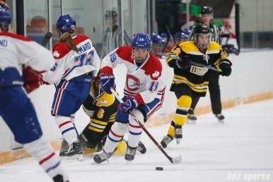 Montreal Les Canadiennes forward Katia Clement-Heydra (19)