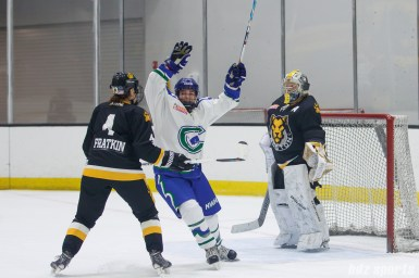 The Connecticut Whale celebrate defender Cydney Roesler's (not pictured) goal