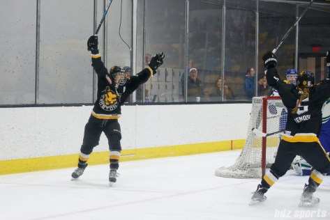 Boston Pride forward Jordan Smelker (11) celebrating her first of two goals