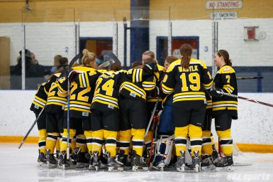The Boston Blades before the start of the game