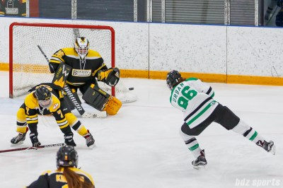 Markham Thunder center Karolina Urban (96) takes a shot on goal
