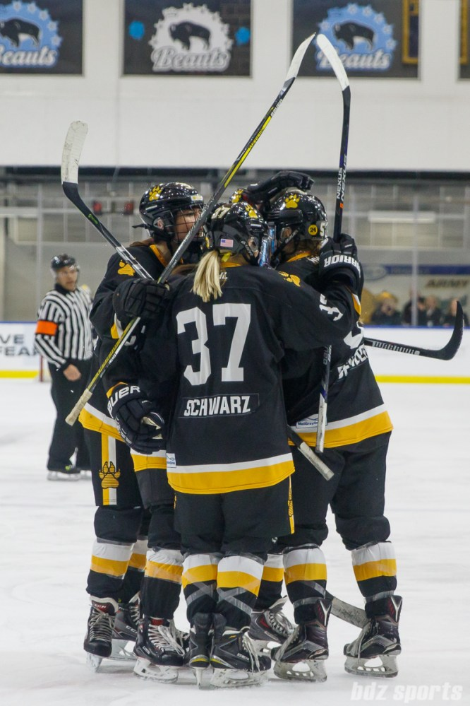 The Boston Pride celebrate their second goal of the game