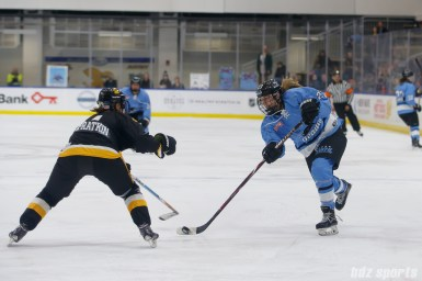Buffalo Beauts forward Corinne Buie (23) takes a shot on goal