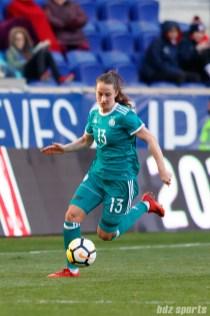 Team Germany midfielder Sara Dabritz (13)