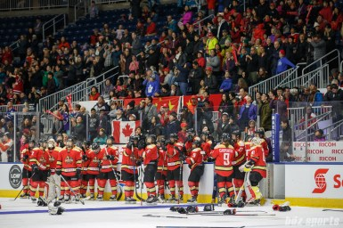 The Kunlun Red Star look on after losing the 2018 Clarkson Cup Final in OT