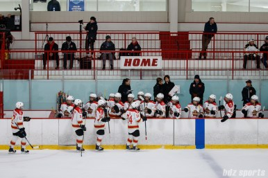 The Kunlun Red Star celebrate forward Jessica Wong's (not pictured) goal
