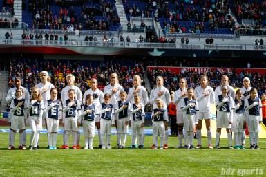U.S. women's national soccer team starting XI against France women's national soccer team on March 4, 2018