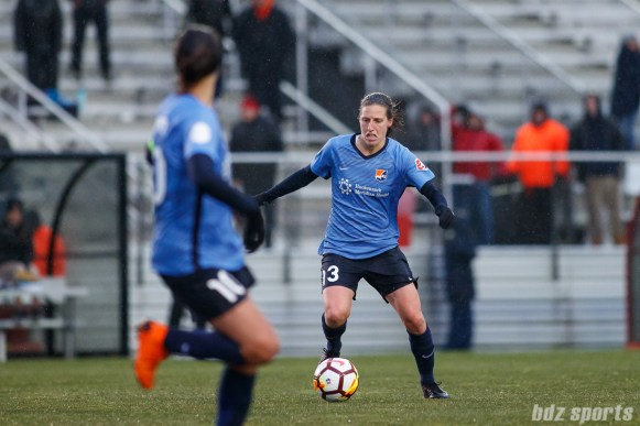 Sky Blue FC defender Rebekah Stott (13)