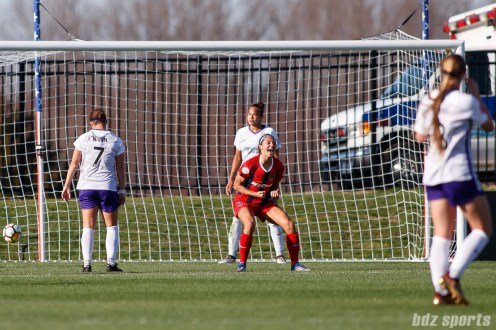 Washington Spirit forward Ashley Hatch (33) reacts after scoring the Spirit's second goal of the game