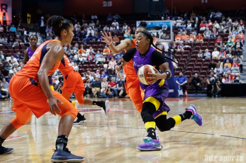 Los Angeles Sparks guard Odyssey Sims (1)