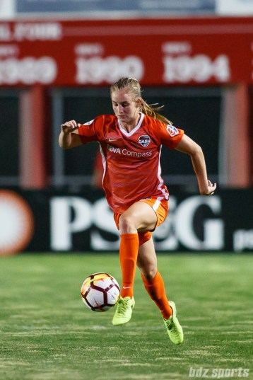 Houston Dash defender Kimberly Keever (18)