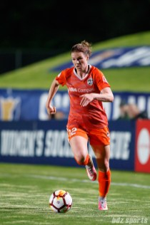 Houston Dash forward Veronica Latsko (12)