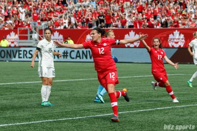 Team Canada forward Christine Sinclair (12)