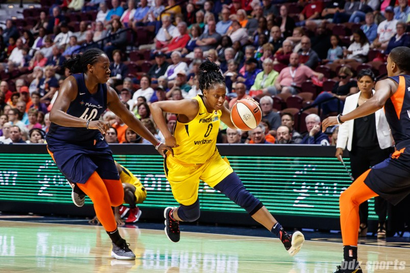 Indiana Fever guard Kelsey Mitchell (0)