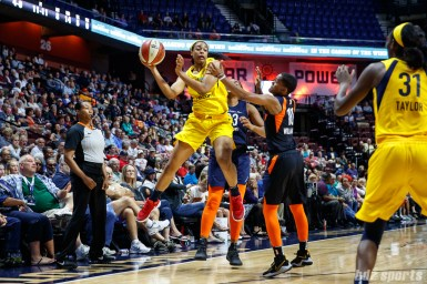 Indiana Fever forward Erica McCall (22)