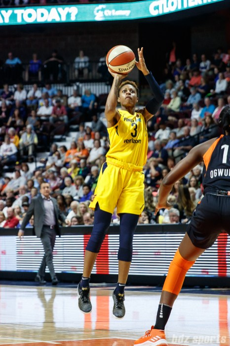 Indiana Fever guard Tiffany Mitchell (3)