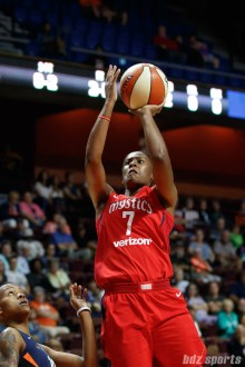 Washington Mystics guard Ariel Atkins (7)