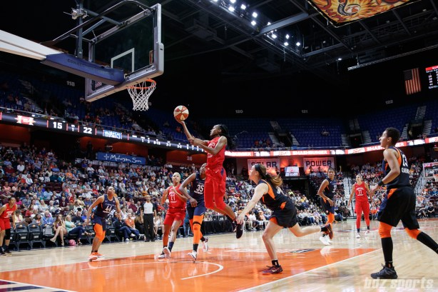 Washington Mystics guard Shatori Walker-Kimbrough (32)