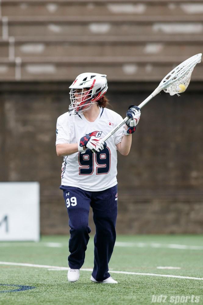 New England Command goalie Emily Leitner (99)