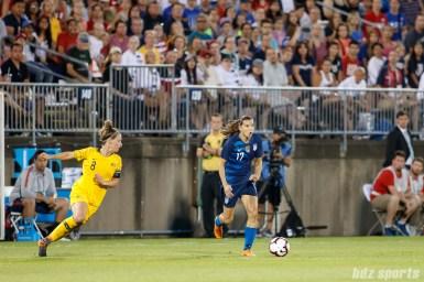 Team USA forward Tobin Heath (17)