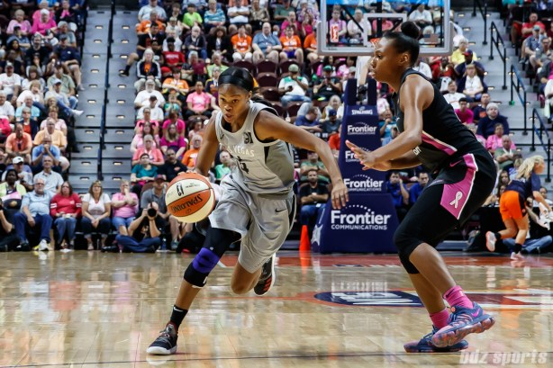 Las Vegas Aces guard Moriah Jefferson (4)