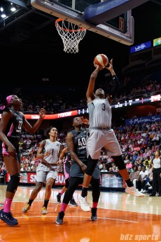 Las Vegas Aces center Kelsey Bone (3)