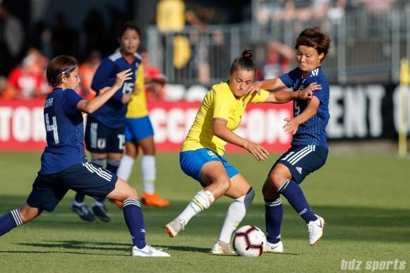 Team Brazil midfielder Camila (7)