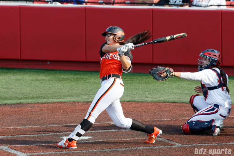 Chicago Bandits first baseman Courtney Gano (8)
