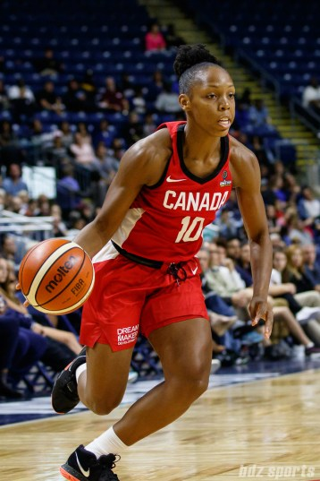 Team Canada guard Nirra Fields (10)