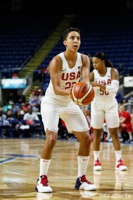 Team USA guard Layshia Clarendon (20)