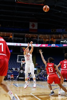 Team USA guard Kelsey Plum (23)