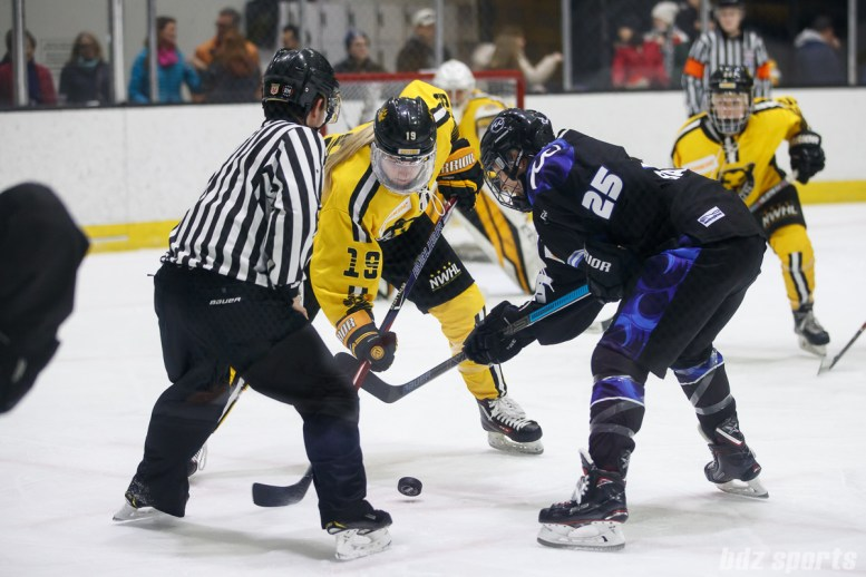 Boston Pride defender Gigi Marvin (19) and Minnesota Whitecaps forward Lauren Barnes (25)