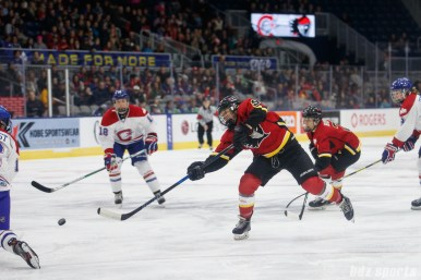 Calgary Inferno forward Dakota Woodworth (9)