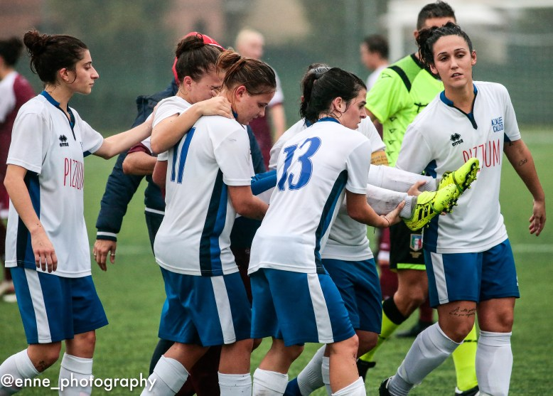 during the Italian championship Serie C Women, football match between Torino Cf Women and Azalee , on October 20, 2019 at Pianezza Stadium, Via Ferrari 3, Pianezza, Italy - Photo Nderim Kaceli