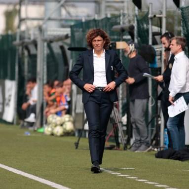 during the Italian championship Serie A Women, football match between Juventus Women and Florentia, on October 13, 2019 at Juventus Training Center Vinovo, Turin, Italy - Photo Nderim Kaceli