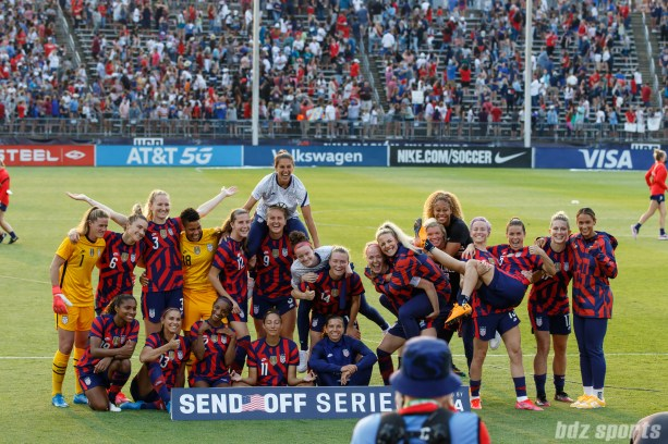 in the second of two 2021 WNT Send-Off Series games between the USWNT and Mexico at Rentschler Field in East Hartford, CT on July 5, 2021.